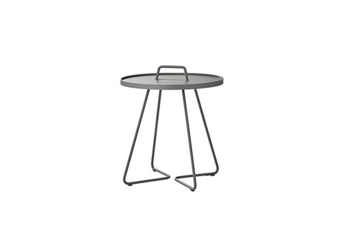 CANE-LINE ON-THE-MOVE SIDE TABLE, LARGE IN LIGHT GREY
