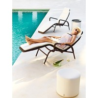 REST SIDE TABLE/FOOTSTOOL IN WHITE