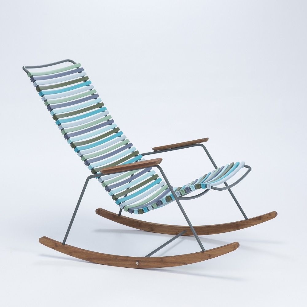 CLICK ROCKING CHAIR WITH MULTI COLOR POLYPROPYLENE PLASTIC SEAT AND BACK POWDER COATED STEEL FRAME & HOUE CLICK ROCKING CHAIR WITH MULTI COLOR POLYPROPYLENE PLASTIC SEAT ...