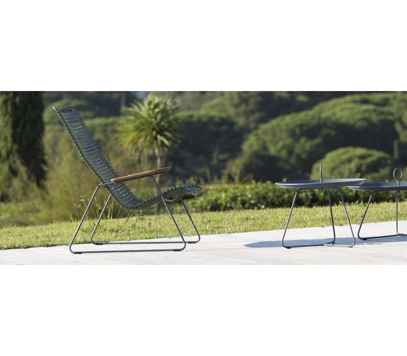 EYELET 18 INCH TRAY TABLE IN PIGEON BLUE POWDER COATED STEEL