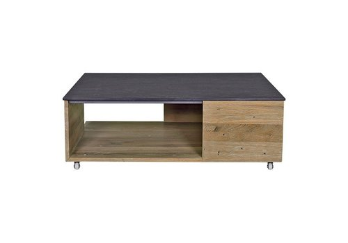 MAMAGREEN AIKO MULTILIFT TABLE WITH WHEELS, TEAK FRAME AND HPL TOP