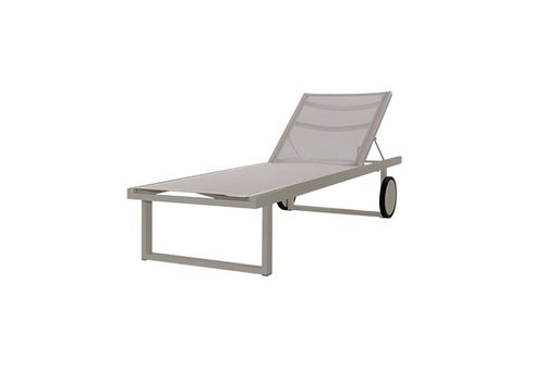 MAMAGREEN ALLUX LOUNGER WITH POWDER COATED ALUMINUM FRAME, LARGER WHEELS AND STANDARD BATYLINE