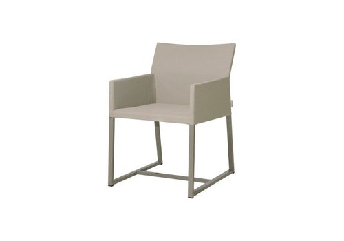 MAMAGREEN MONO DINING CHAIR WITH POWDER COATED ALUMINUM FRAME AND TWITCHELL LEISURETEX UPHOLSTERY