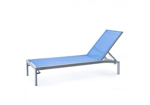 PAVILION BLEAU G2 STACKING CHAISE WITH REGULAR SLING, STANDARD POWDER COATED ALUMINUM FRAME
