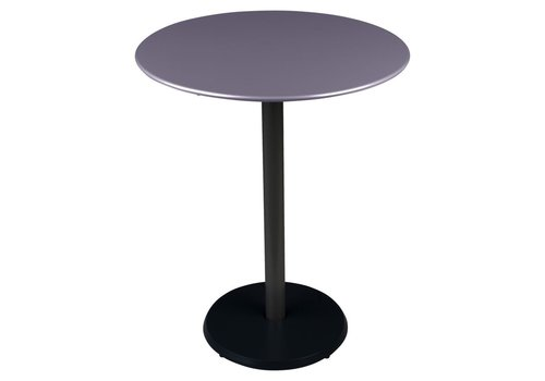 FERMOB CONCORDE PREMIUM 24 INCH ROUND TABLE WITH POWDER COATED STEEL BASE AND POWDER COATED REINFORCED SHEET STEEL TOP