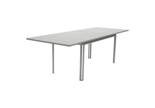 FERMOB COSTA 63-93x35 EXTENDING DINING TABLE IN POWDER COATED ALUMINUM