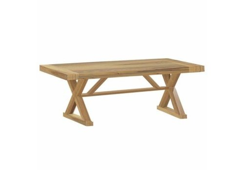 "SUMMER CLASSICS MODENA 108"" NATURAL TEAK DINING TABLE"