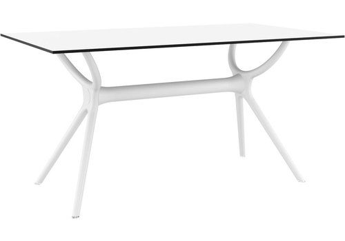 SIESTA AIR RECTANGLE DINING TABLE 55x31 /  WHITE BASE AND TOP