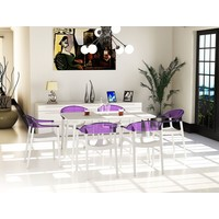 CARMEN DINING CHAIR BLACK FRAME AND TRANSPARENT CLEAR BACK AND ARMREST