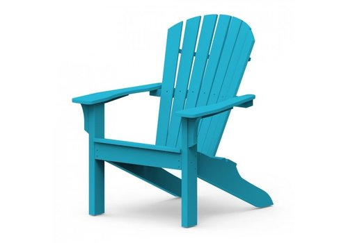 SEASIDE CASUAL ADIRONDACK SHELLBACK CHAIR - POOL BLUE