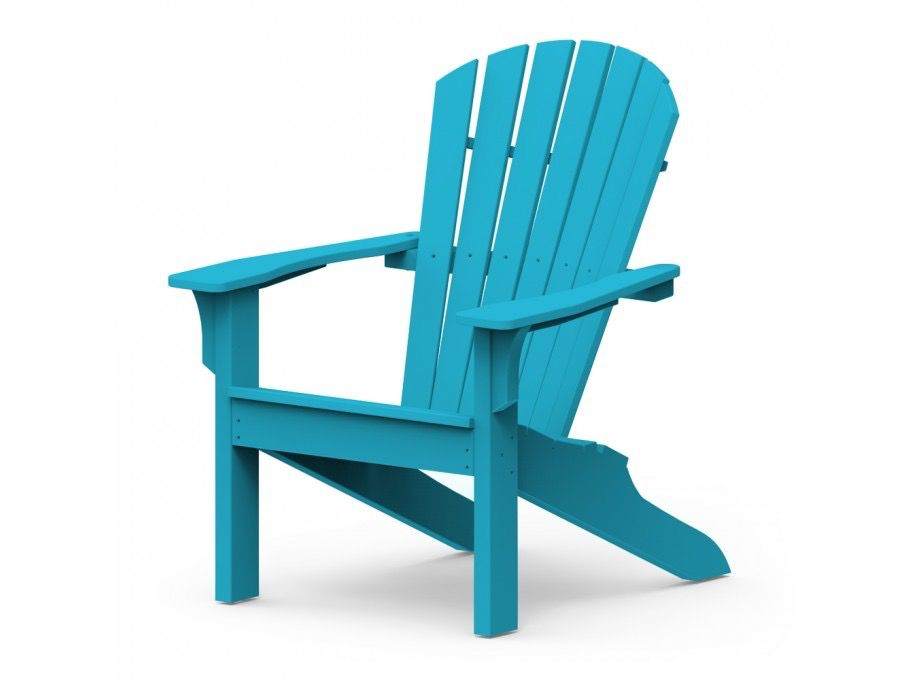 SEASIDE CASUAL ADIRONDACK SHELLBACK CHAIR   POOL BLUE
