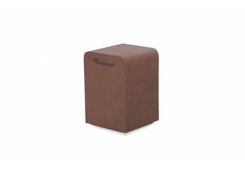 LOOK STOOL OR SIDE TABLE, RUST