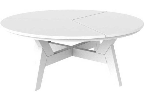 SEASIDE CASUAL DEX 40 INCH ROUND ROUND CHAT TABLE - GRAY