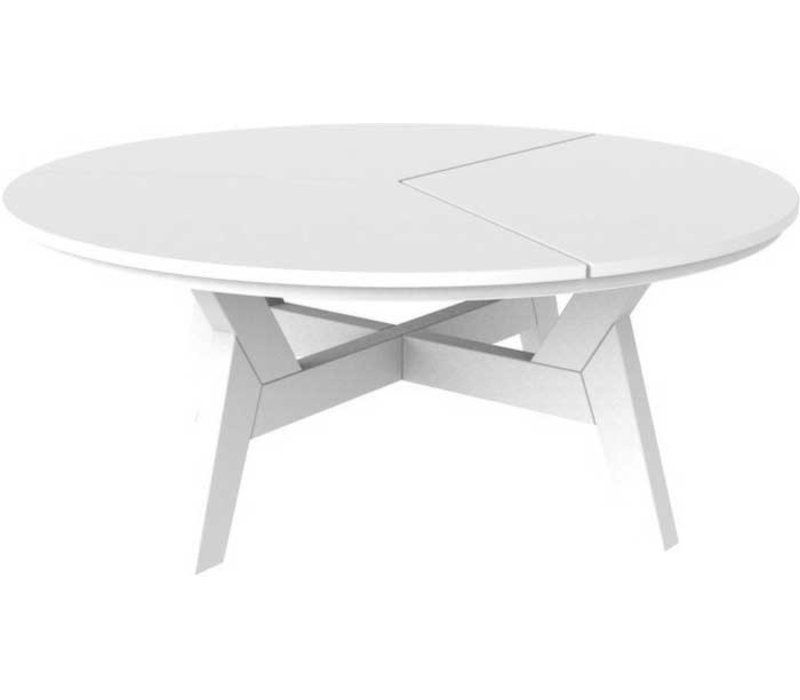 SEASIDE CASUAL DEX 40 INCH ROUND ROUND CHAT TABLE   GRAY