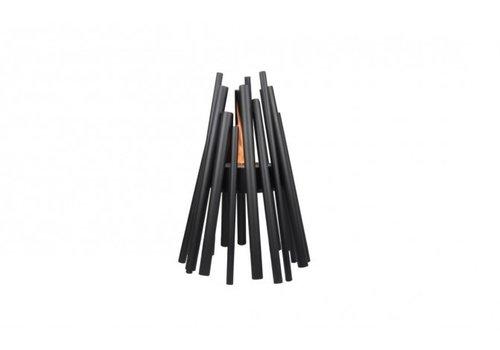 STIX BLACK POWDER COATED STEEL FIRE ELEMENT WITH AB3 BURNER
