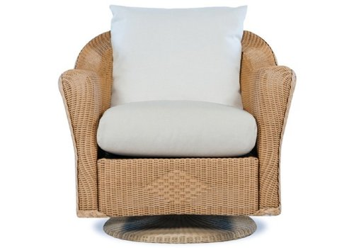 LLOYD FLANDERS REFLECTIONS SWIVEL ROCKER LOUNGE CHAIR **CONTEMPORARY BACK WITH GRADE A FABRIC