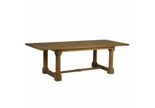 SUMMER CLASSICS LAKESHORE 96x42 TEAK DINING TABLE IN NATURAL