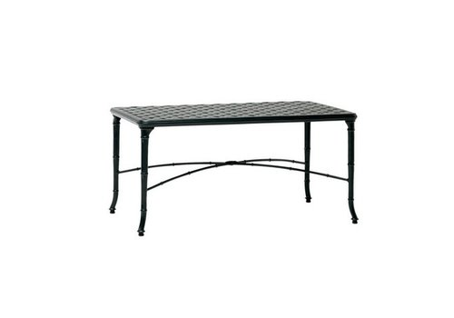 BROWN JORDAN CALCUTTA 24x42 CAST ALUMINUM CORNER TABLE