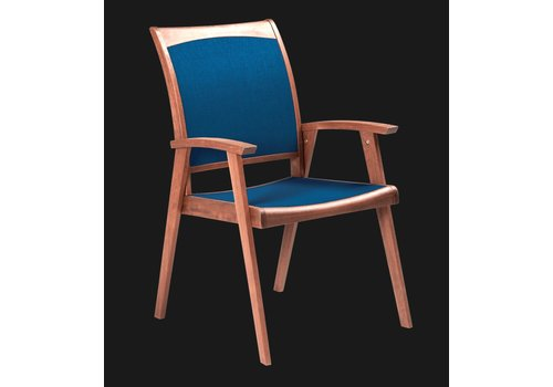 JENSEN LEISURE FURNITURE TOPAZ STACKING SLING CHAIR - BLUE (sold in sets of 2)