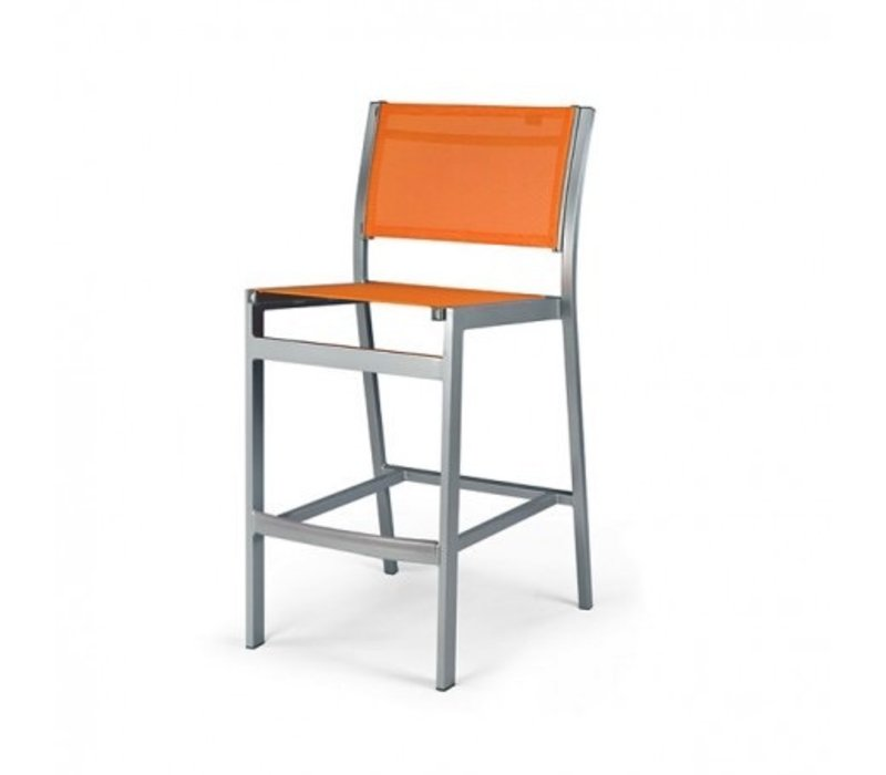 BLEAU ARMLESS BAR CHAIR WITH REGULAR SLING, STANDARD POWDER COATED ALUMINUM FRAME