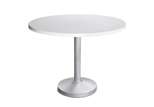PAVILION PEDESTAL 30 ROUND DINING TABLE WITH SOLID ALUMINUM TOP, STANDARD POWDER COATED BASE