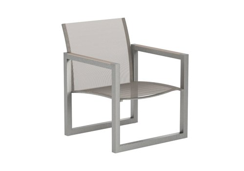 ROYAL BOTANIA NINIX RELAX LOUNGE CHAIR / ELECTRO POLISHED STAINLESS / CAPPUCCINO BATYLINE