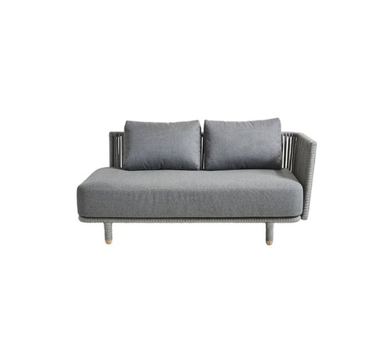 MOMENTS 2 SEATER SOFA LEFT MODULE WITH CUSHIONS IN GREY SOFTTOUCH