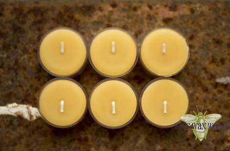 Bees Wax Works 6 Tealight Pack