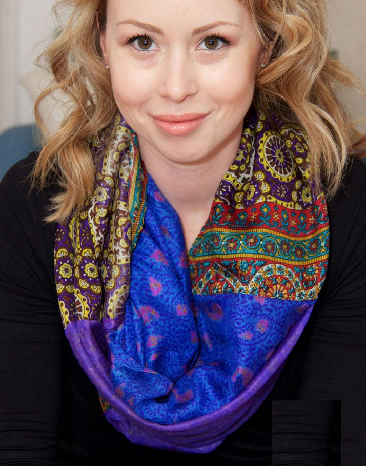 Wear Guru Recycled Silk Infinity Scarf