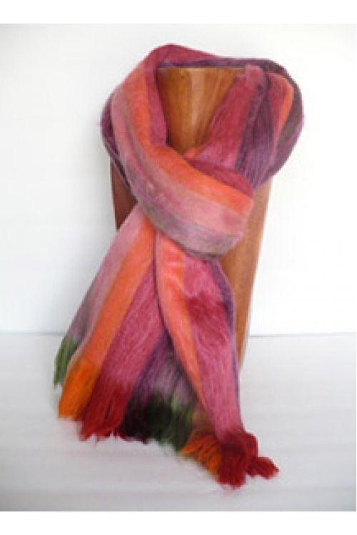 Multicoloured Alpaca Scarf