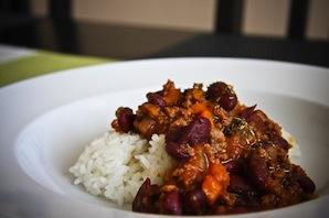 Turkey Chili With Roasted Sweet Potatoes (2 -3)