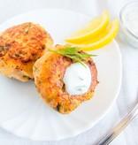 Salmon Cake Dinner (Serves 2)