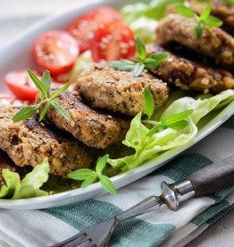 Black Bean Cake Vegetarian Dinner (Serves 2)