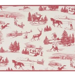 Cork-Backed  Placemats Winter Toile Red & White (SET OF 4)
