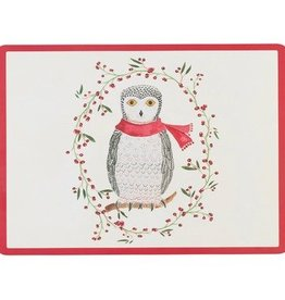 Cork-Backed Snowy Owl Placemats (SET OF 4)