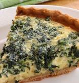 Spinach & Cheese Quiche
