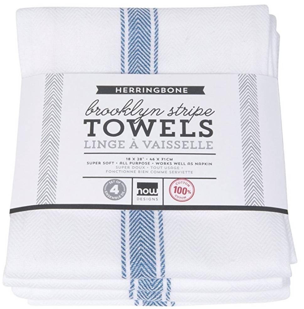 Brooklyn Stripe Towels Blue