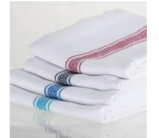 """The Brooklyn Stripe Towel Set includes 4 towels with a handsome and understated herringbone design, woven from pure, super-soft cotton. The 18"""" l x 28"""" w dishtowels are very absorbent and perfect for all-purpose kitchen use, but work equally well as napki"""