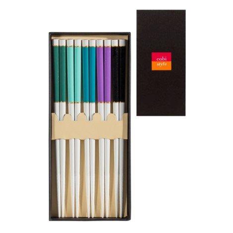 COBI STYLE Lacquered Boxed Chopsticks, (set 5)