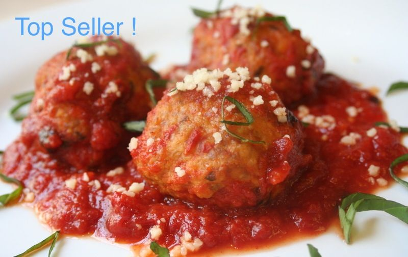 Sicilian Chicken Meatball Dinner for Two