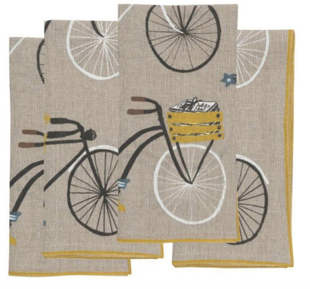 Napkin Bicycle Linen Napkin (4)