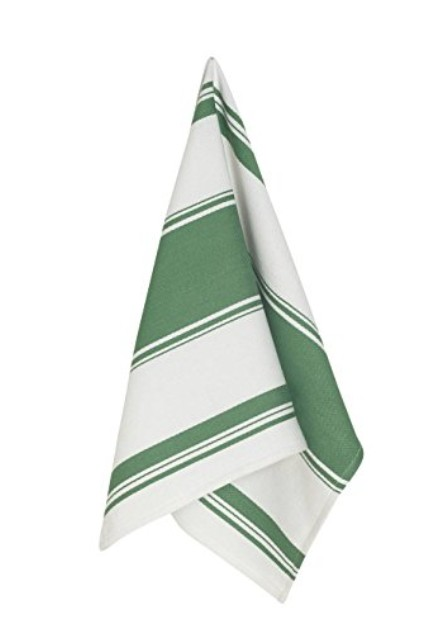 Symmetry Dishtowel Green Striped