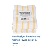 Basketweave Yellow Dishtowels