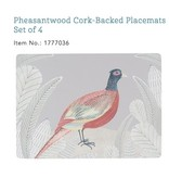 Cork-backed Pheasant Pacemat