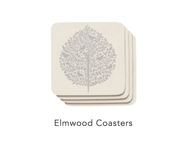 Cork-Backed Elmwood Coasters (set 4)