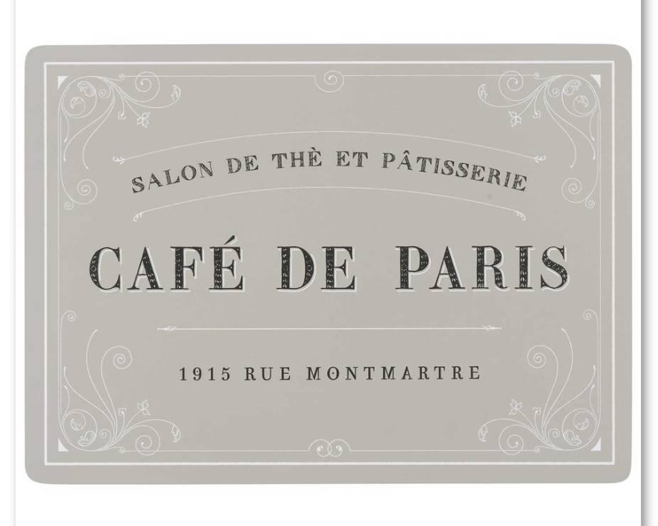 Cork- Backed Cafe De Paris Placemats