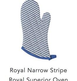 Oven Mitt Blue Stripe