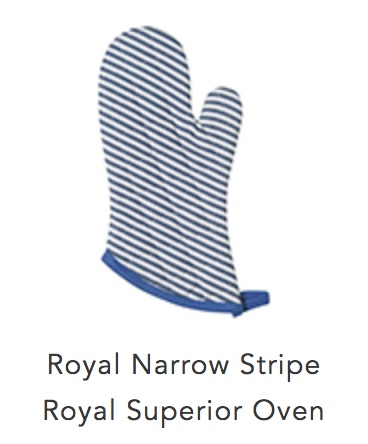 Oven Mitt Blue Stripe