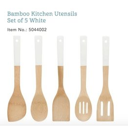 Bamboo Utensils - white