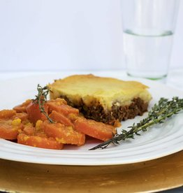 Shepherd's Pie with Ginger Glazed Carrots for Two